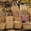 Stock Photo: Close-up of Cane Baskets for Sale