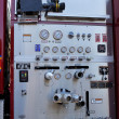 Stock Photo: Detailed Fire Truck Controls and Gauges