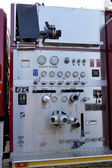 Detailed Fire Truck Controls and Gauges — Stock Photo