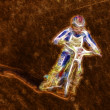 Abstract Dirt Track Motorcycle Racer — Stock Photo