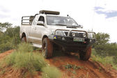 White Toyota Raider Hilux 3.0L  — Stock Photo