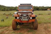 Crush Beige Jeep Wrangler Off-Roader V8 — Stockfoto