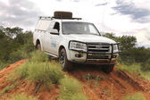 White Ford XLT Supercab 3.0L TDCi  — Stock Photo