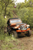 Crush Beige Jeep Wrangler Off-Roader V8 — Stock Photo
