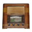 Isolated Old Vintage Wooden Box Radio — Stock Photo #43360937