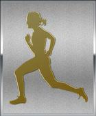 Gold on Silver Athletics Sport Emblem — Stock Photo