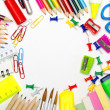 School stationery framing for school and office — Stock Photo