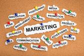 Marketing from cutout newspaper headlines — Stock Photo