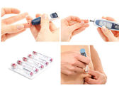 Diabetes diabetic concept collage — Stock Photo