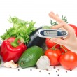 Stock Photo: Diabetes concept glucometer for glucose level blood test