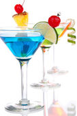 Popular alcoholic cocktails composition — Stock Photo