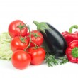 Healthy eating vegetables food concept tomatoes, salad — Stock Photo