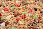 Mueslis granen met Haver vlokken en vers fruit — Stockfoto