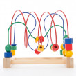 Stock Photo: Baby child wooden educational toy with looped wires