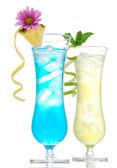 Tropical Martini cosmopolitan cocktail blue hawaiian — Stockfoto