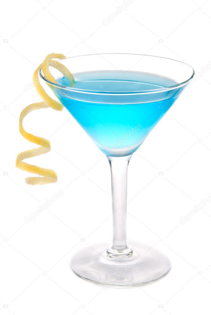 Blaue cosmopolitan cocktail martini cocktail glas for Orange and blue cocktails
