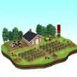 Miniature of a Farm Concept — Stock Photo