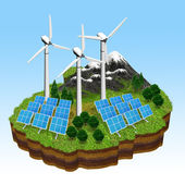 Grüne energiekonzept — Stockfoto
