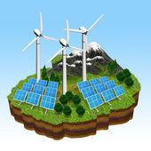 绿色能源概念 — 图库照片