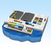 Concepto de envío y carga — Foto de Stock