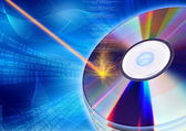 CD / DVD burning concept — Stock Photo