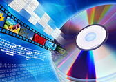 CD / DVD as multimedia content — Stock Photo
