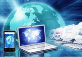 Information technology and gadget — Stock Photo