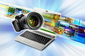 Photography & Image Sharing Concept — Stock Photo