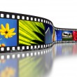 Film Strip Concept - Foto de Stock