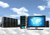 Cloud Computing Server Concept — ストック写真