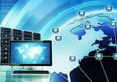Worldwide computer network — Stock Photo