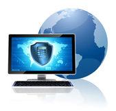 コンピューター セキュリティの概念 — ストック写真