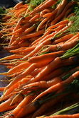 Carrot fruit on Traditional Market — Stock Photo