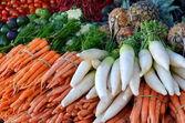 Fresh fruit on Traditional Market — Stock Photo