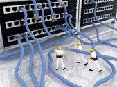 Information Technology network problem — Stock Photo