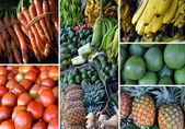 Vers fruit collage — Stockfoto