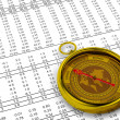 Financial Investment Compass — Stock Photo