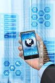 Zakelijke en slimme telefoon — Stockfoto