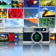 Photography and image sharing — Stock Photo