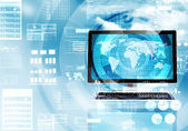 Internet data processing — Stock Photo