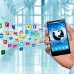 Internet and multimedia smart phone — Stock Photo