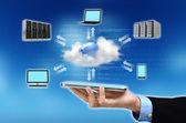 Concetto di cloud computin — Foto Stock