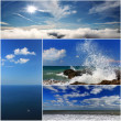 Collage of sea landscapes — Stock Photo