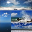 Collage of sea landscapes — Foto Stock