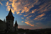 Silhouette of the castle — Stock Photo