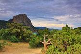 Zonsondergang in de bergen — Stockfoto
