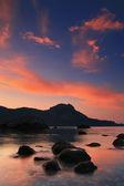 Sunrise in the ocean bay — Stock Photo