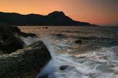 Dawn in ocean bay — Stock Photo