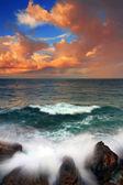 Stormy sunrise on the sea — Stock Photo