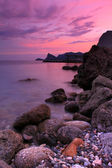 Colourful sunset on the shores of sea — Stock Photo
